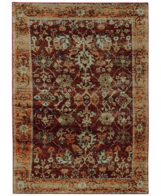 "Journey  Viva Red 8'6"" x 11'7"" Area Rug"