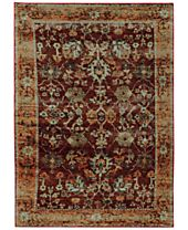Macy's Fine Rug Gallery Journey Viva Red Area Rugs