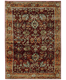 "Macy's Fine Rug Gallery Journey  Viva Red 8'6"" x 11'7"" Area Rug"