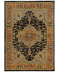 "Macy's Fine Rug Gallery Journey  Heriz Gold 6'7"" x 9'6"" Area Rug"