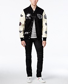 Men's Varsity Jacket & Moto Jeans