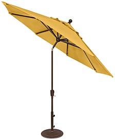 Outdoor Bronze 9' Push Button Tilt Umbrella