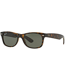 Ray-Ban Polarized New Wayfarer Sunglasses, RB2132 58