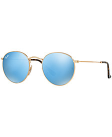Ray-Ban ROUND FLAT LENS Sunglasses, RB3447N 47