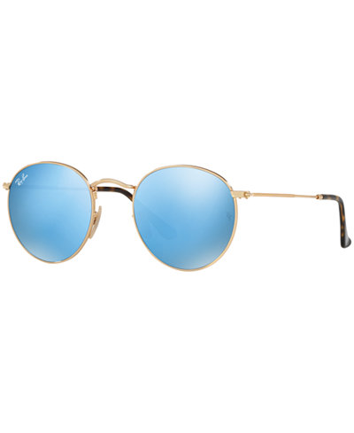 Ray-Ban ROUND FLAT LENS Sunglasses, RB3447N 47