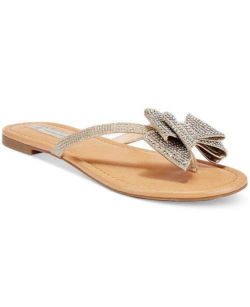 7702b6f758fa INC International Concepts I.N.C. Women s Mabae Bow Flat Sandals ...