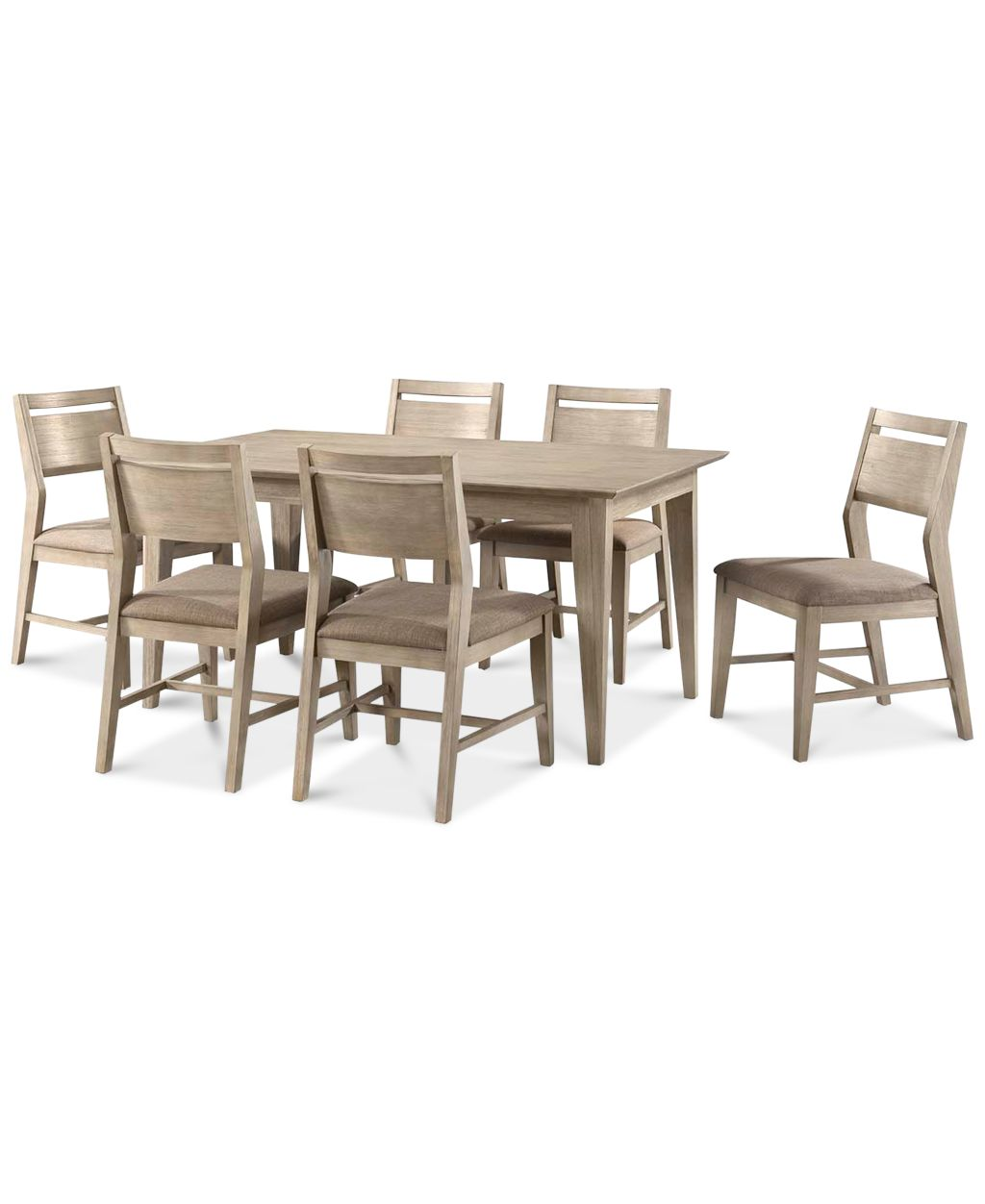 Kips cove dining furniture 7 pc set dining table 6 for Side chairs for dining table