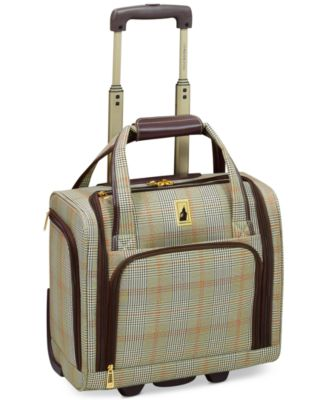 "CLOSEOUT! Knightsbridge 15"" Under Seat Tote, Available in Brown and Grey Glen Plaid, Created for Macy's"