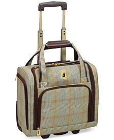 "CLOSEOUT! London Fog Knightsbridge 15"" Under Seat Tote, Available in Brown and Grey Glen Plaid, Created for Macy's"