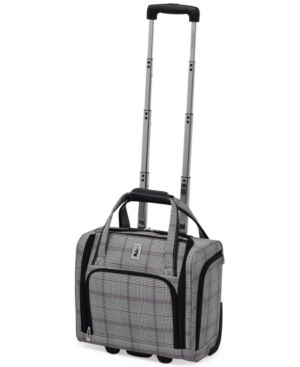 "London Fog Knightsbridge 15"" Under Seat Tote, Available in Brown and Grey Glen Plaid, Created for Macy's 2842720"