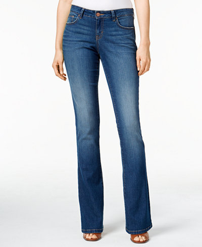style co curvy fit bootcut jeans created for macy 39 s. Black Bedroom Furniture Sets. Home Design Ideas