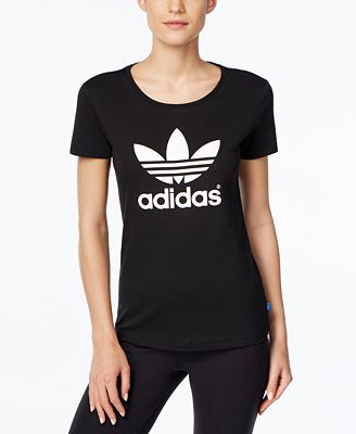 Adidas trifoglio t - shirt al massimo le donne macy's