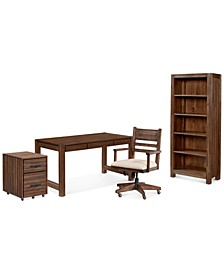 Avondale Home Office 4-Pc. Set (Desk, File Cabinet, Desk Chair & Bookcase)