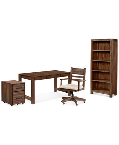 Avondale Home Office Furniture, 4-Pc. Set (Desk, File Cabinet, Desk Chair & Bookcase)