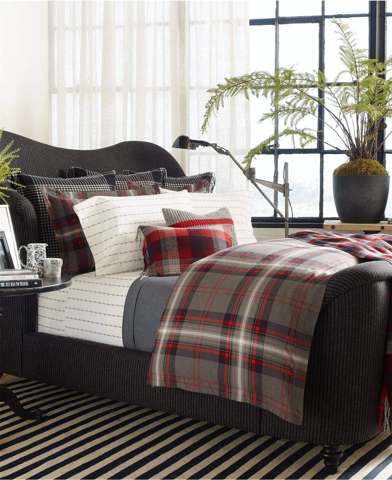 Ralph lauren plaid bedding - Ralph Lauren West Village Bedding Collection