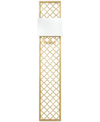 Regina Andrew Gold-Leaf Quatrefoil Panel Sconce