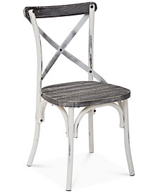 Glenman Antique Metal Chair, Quick Ship
