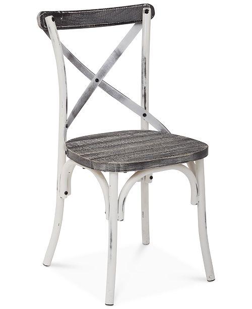 Furniture Glenman Antique Metal Chair, Quick Ship