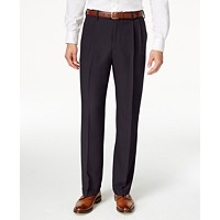 Deals on Haggar Men's Texture Weave Classic Fit Pleated Dress Pants