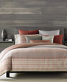 Hotel Collection Modern Geo Stripe Twin Duvet Cover, Created for Macy's