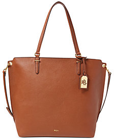 Lauren Ralph Lauren Faux-Leather Medium Abby Tote