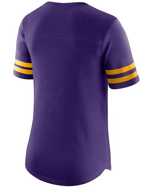 huge selection of 7b61a 4fe98 Nike Women's Minnesota Vikings Gear Up Fan Top T-Shirt ...