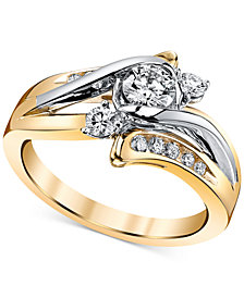 Sirena Diamond Engagement Ring (5/8 ct. t.w.) in 14k Gold and White Gold