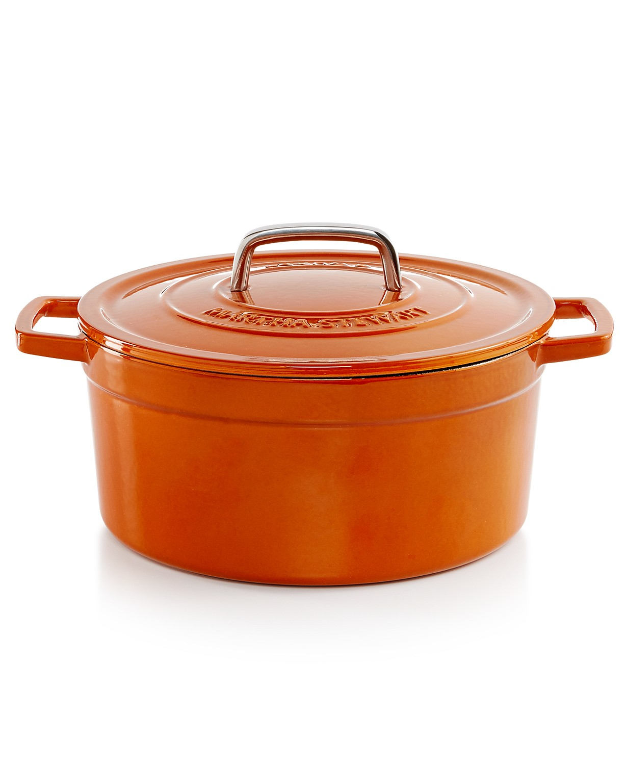 Save 72% on Martha Stewart Collection Enameled Cast Iron 6 Qt. Round Dutch Oven