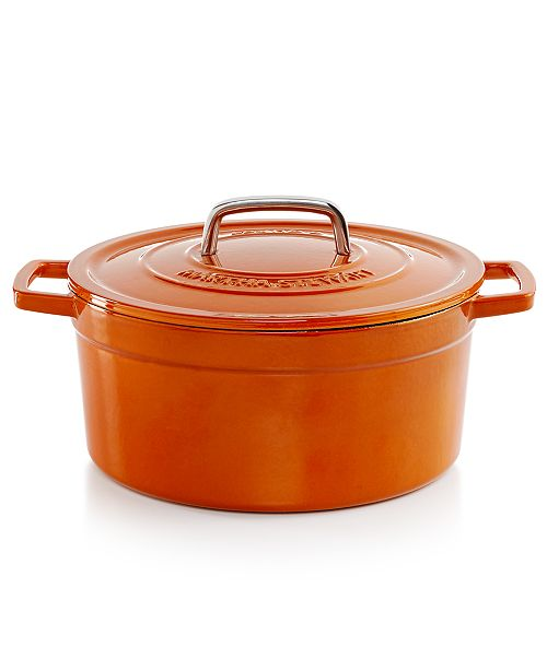 Martha Stewart Collection CLOSEOUT! Collector's Enameled Cast Iron 6 Qt. Round Dutch Oven, Created for Macy's