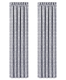 "J Queen New York Colette Silver 100"" x 84"" Window Drapery"