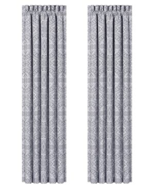 "J Queen New York Colette Silver 100"" x 84"" Window Drapery Bedding 2843116"