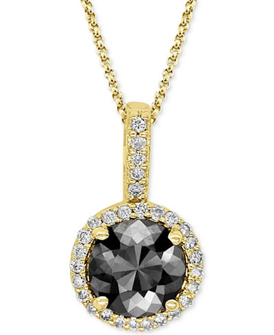 Diamond Pendant Necklace (1 ct. t.w.) in 14k Yellow, White or Rose Gold