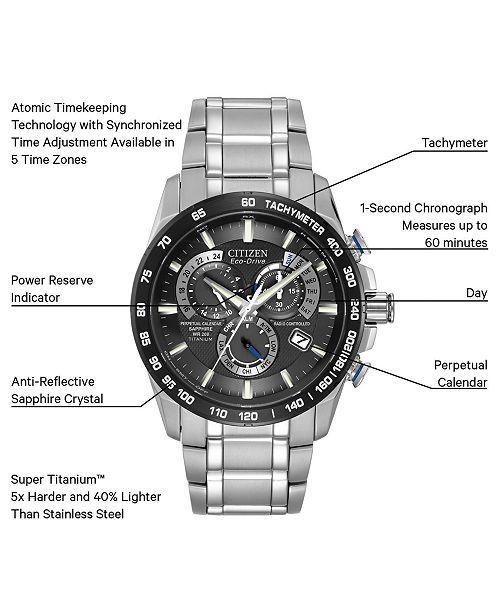 ... Citizen Men s Chronograph Eco-Drive Titanium Bracelet Watch 43mm AT4010-  ... a9d8ba17d
