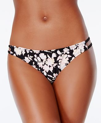 Bikini Nation Pickin' Petals Printed Strappy Cheeky Hipster Bottoms