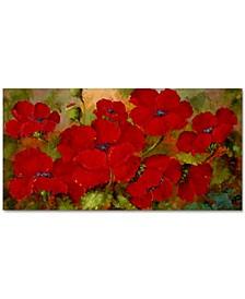 "Rio 'Poppies' Canvas Art - 32"" x 16"""