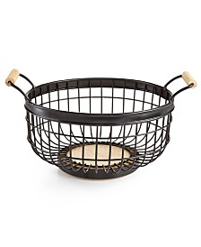 Martha Stewart Collection Wire Basket, Created for Macy's