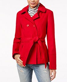 Celebrity Pink Juniors' Hooded Peacoat