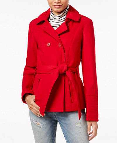 Celebrity Pink Juniors' Hooded Peacoat - Coats - Women - Macy's