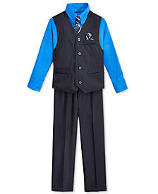 Nautica Little Boys' Stripe Vest, Shirt, Tie & Suiting Pants, Little Boys