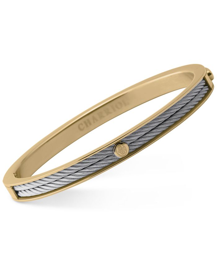 CHARRIOL - Women's Forever Two-Tone PVD Stainless Steel Cable Bangle Bracelet 04-104-1139-7
