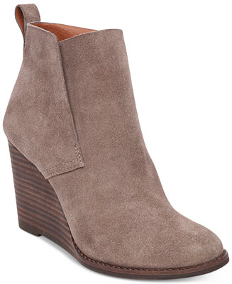 Lucky Brand Women's Yameena Wedge Booties - Boots - Shoes - Macy's