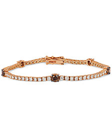 Le Vian Chocolatier® White and Chocolate Diamond Bracelet  (3-5/8 ct. t.w.) in 14k Rose  or White Gold