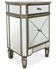 Soryn Gold-Trim Mirrored Chest, Quick Ship