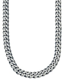 Wide Chain Necklace (6-3/4mm) in Sterling Silver, Created for Macy's