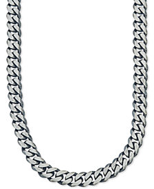 Esquire Men's Jewelry Wide Chain Necklace (6-3/4mm) in Sterling Silver, Created for Macy's