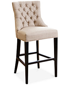 Jerrod Tufted Upholstered Bar Stool, Quick Ship