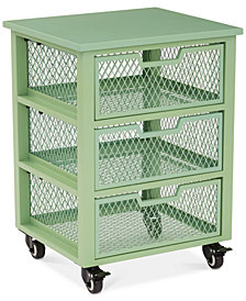 Atwell 3-Drawer Rolling Storage Cabinet, Quick Ship