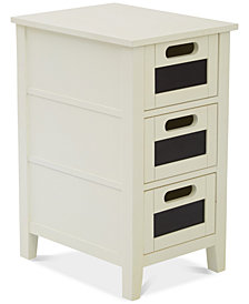 Vilma 3-Drawer Side Table, Quick Ship