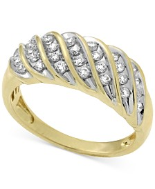 Wrapped in Love Diamond Band  (1/2 ct. t.w.) in 10k Gold, Created for Macy's