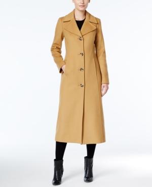 Retro Vintage Style Coats, Jackets, Fur Stoles Anne Klein Wool-Blend Maxi Walker Coat $299.99 AT vintagedancer.com